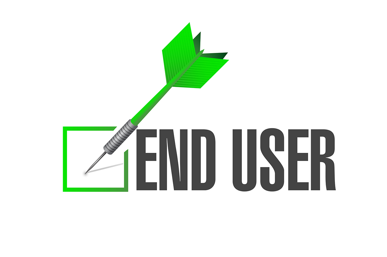 end user An end-user is the person who actually uses a product or service this often differs from the customer, defined as the entity that purchases a product or service from the perspective of the sellerthe following are illustrative examples of an end-user.